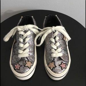 Zara Black/Multicolored Glitter & Stars Sneakers